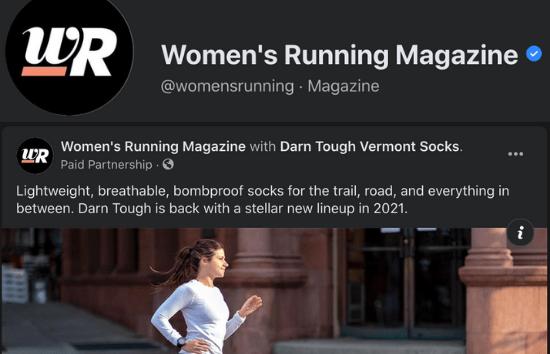 Women's Running Facebook - DTV's 2021 Run Collection
